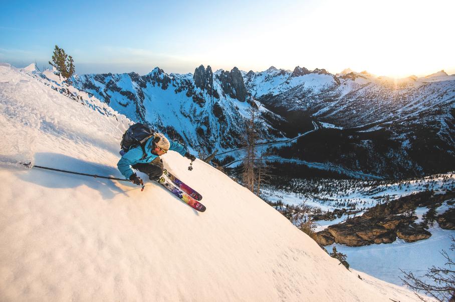 Late winter skiing at Washington Pass. Jason Hummel photo.