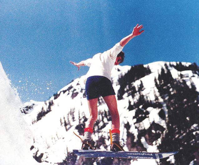 Mt. Baker Hard Core's Jeff Fulton in 1982. Photo by Craig Kelly.