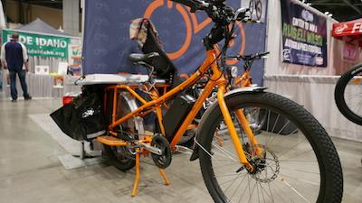 Electric assist cargo bike by Rad Power Bikes.
